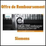 Offre de Remboursement (ODR) Siemens : 50€ ou 100€ sur Lave-linge ou Sèche-linge - anti-crise.fr
