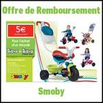 Offre de Remboursement (ODR) Smoby : 5€ sur Tricycle - anti-crise.fr