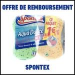 Offre de Remboursement (ODR) Spontex : 2 Eponges Aquadouce pour 1 € - anti-crise.fr