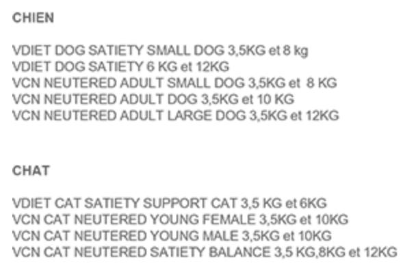 offre de remboursement royal canin croquettes produits concernés