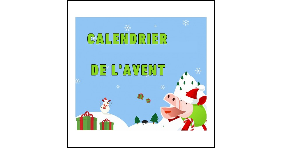 calendrier de l avent le cochon qui rit sur facebook bo te de jeu gagner. Black Bedroom Furniture Sets. Home Design Ideas