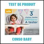 Test de Produit Conso Baby : Chaise Mimzy 360 Joie - anti-crise.fr