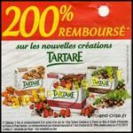 Offre de Remboursement (ODR) Tartare : 100 % Remboursé par virement bancaire + 100 % Remboursé en 1 Bon d'Achat - anti-crise.fr