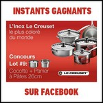 Instants Gagnants Le Creuset sur Facebook : Produits de la Nouvelle Gamme Inox à Gagner - anti-crise.fr