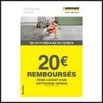 Offre de Remboursement (ODR) Kärcher : 20 € sur Nettoyeur Vapeur - anti-crise.fr