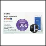 Offre de Remboursement (ODR) Sony : Jusqu'à 100 € sur Xperia Z3c + Smartwatch3 - anti-crise.fr