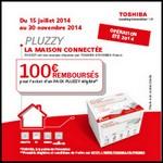 Offre de Remboursement (ODR) Toshiba : 100 € sur Pack Pluzzy - anti-crise.fr