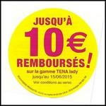 Offre de Remboursement (ODR) Tena : Jusqu'à 10 € Remboursés sur la Gamme Pants - anti-crise.fr