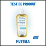 Test de produit Mustela : Huile de bain lactée Stelatopia - anti-crise.fr