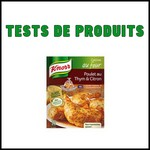 Tests de produits : Sachet cuisson Poulet au citron et thym de Knorr - anti-crise.fr