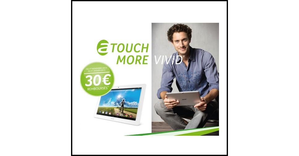 offre de remboursement odr acer 30 rembours s pour l achat de la tablette iconia a3 a20. Black Bedroom Furniture Sets. Home Design Ideas