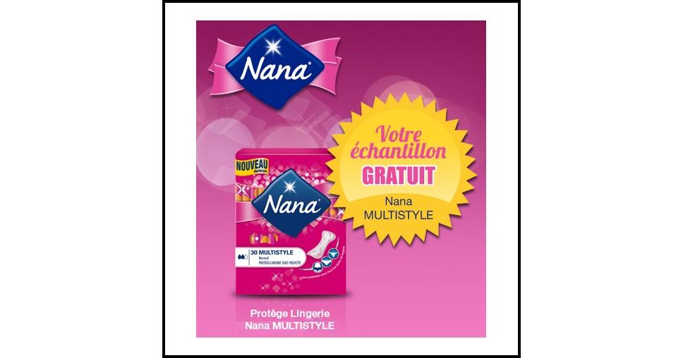 Echantillon Gratuit Nana : Protège Lingerie Multistyle - anti-crise.fr