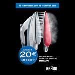 Offre de Remboursement (ODR) Braun : Jusqu'à 20 € sur Fer Vapeur - anti-crise.fr