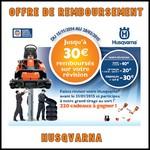 Offre de Remboursement (ODR) Husqvarna : Jusqu'à 30 € sur votre Révision - anti-crise.fr