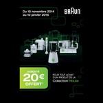 Offre de Remboursement (ODR) Braun : Jusqu'à 20 € sur la Collection Tribute - anti-crise.fr