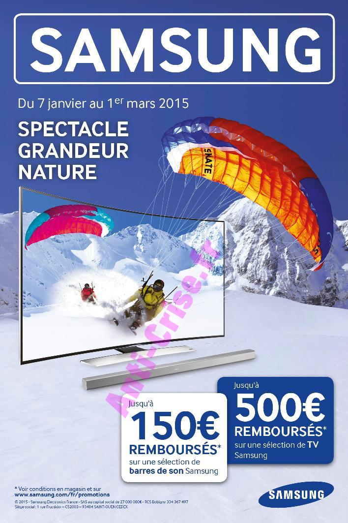 offre de remboursement odr samsung 500 sur ecran tv. Black Bedroom Furniture Sets. Home Design Ideas