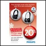 Offre de Remboursement (ODR) Philips : 20 % sur Casques Bluetooth - anti-crise.fr
