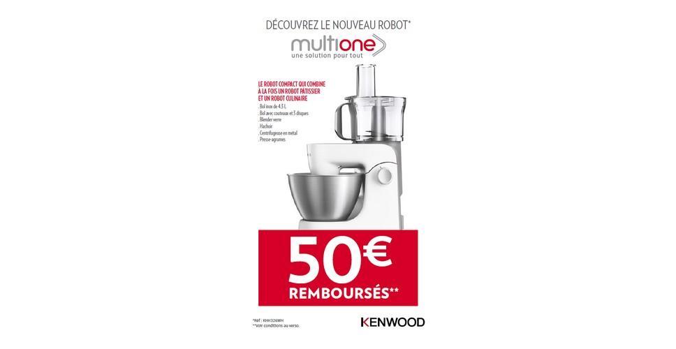 Offre de Remboursement (ODR) Kenwood : 50 € sur Robot MultiOne - anti-crise.fr