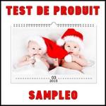 Test de Produit Sampleo : Calendrier à personnaliser Photocité - anti-crise.fr