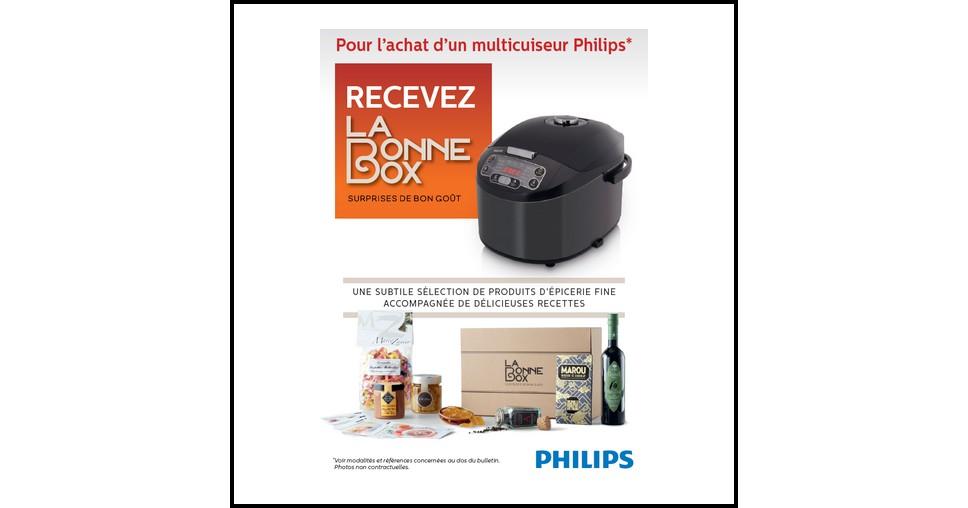 bon plan philips recevez la bonne box pour l achat d un multicuiseur. Black Bedroom Furniture Sets. Home Design Ideas