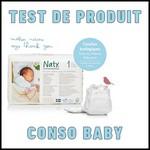 Test de Produit Conso Baby : Couches écologiques NATY - anti-crise.fr