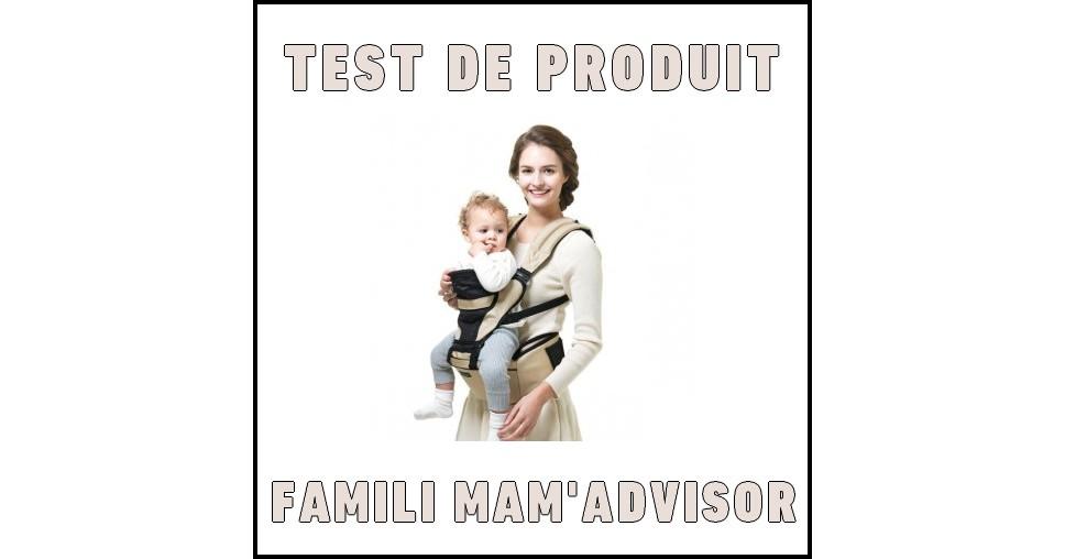 Test de Produit Famili Mam'Advisor : Porte-bébé Smart Hipseat 3 en 1 Pognae - anti-crise.fr