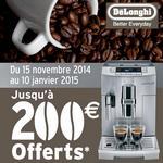 offre de remboursement machine à espresso delonghi