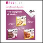 Offre de Remboursement (ODR) Shopmium : 3 Desserts Surgelés Marie à 3 € l'unité - anti-crise.fr
