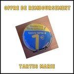 Offre de Remboursement (ODR) Marie : Votre Tarte à 1 € - anti-crise.fr