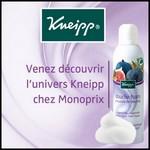 Bon Plan chez Monoprix : Venez découvrir l'univers Kneipp - anti-crise.fr