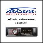 Offre de Remboursement (ODR) Takara / Cdiscount : 10 € sur Autoradio numérique RDU1540 Bluetooth / SD / USB / AUX - anti-crise.fr