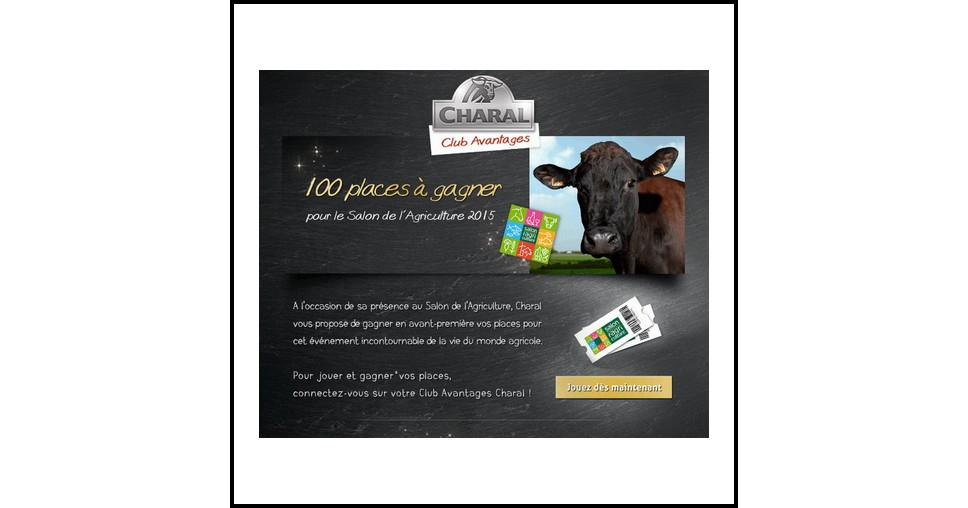 Instants gagnants charal 2 invitations pour le salon de - Salon de l agriculture invitation gratuite ...