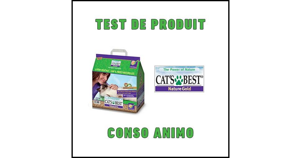 Test de Produit Conso Animo : Litière Cat's Best Nature Gold - anti-crise.fr