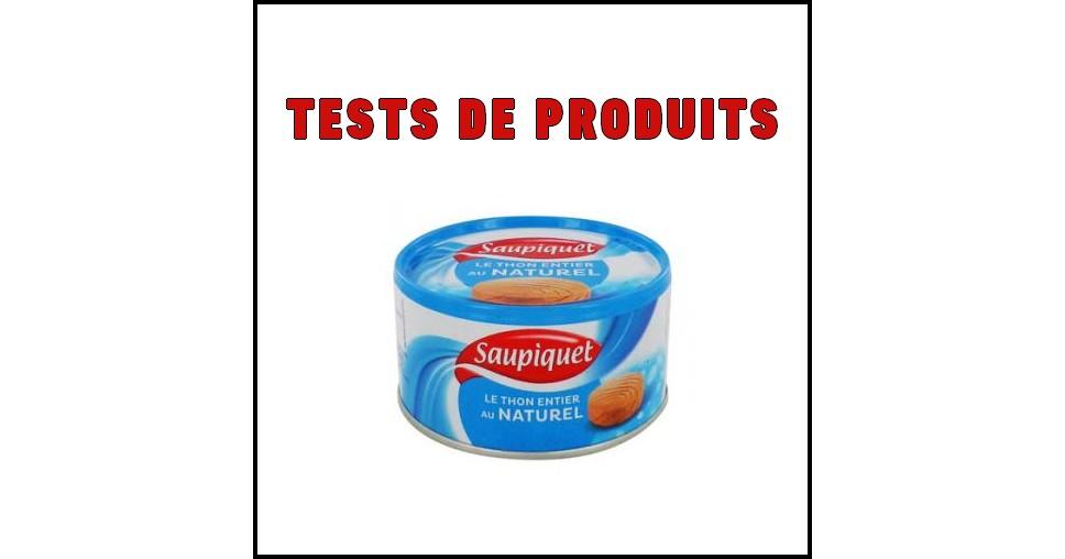Tests de Produits : Thon Entier au naturel Saupiquet - anti-crise.fr