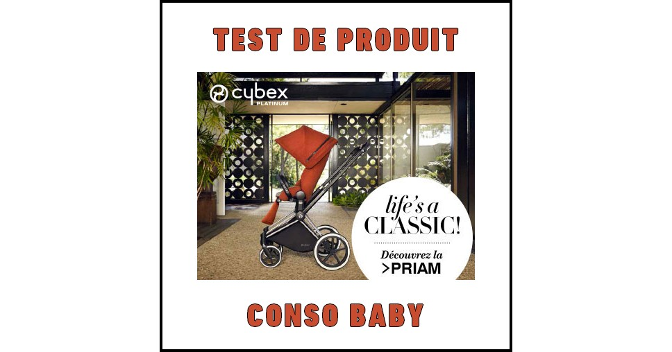 test de produit conso baby poussette priam cybex. Black Bedroom Furniture Sets. Home Design Ideas