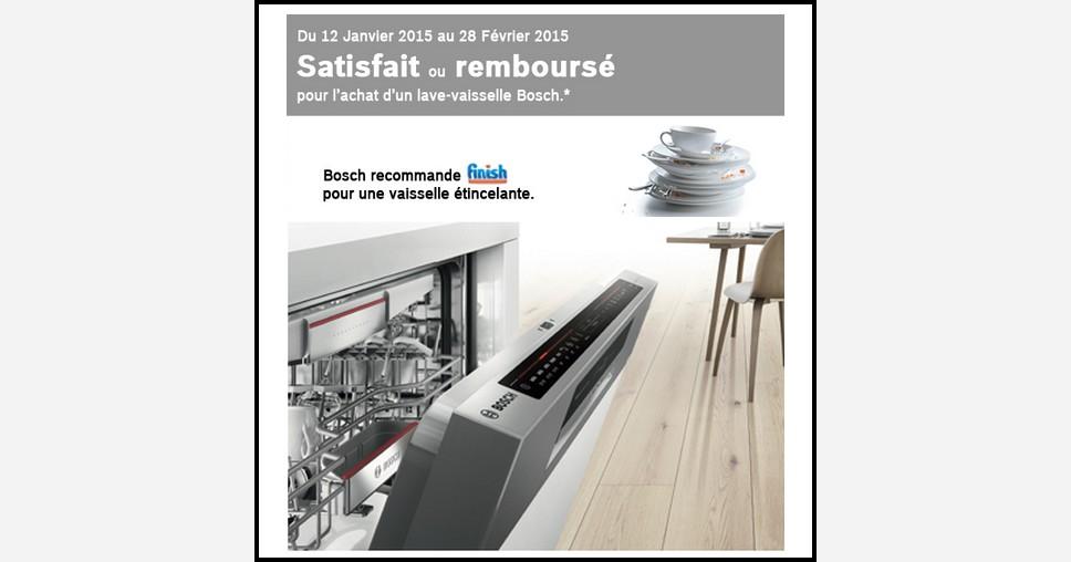 Offre d essai odr bosch lave vaisselle satisfait ou for Bosch sms53m62ff