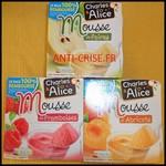Offre de Remboursement (ODR) Charles & Alice : Mousses de Fruits 100 % Remboursée - anti-crise.fr
