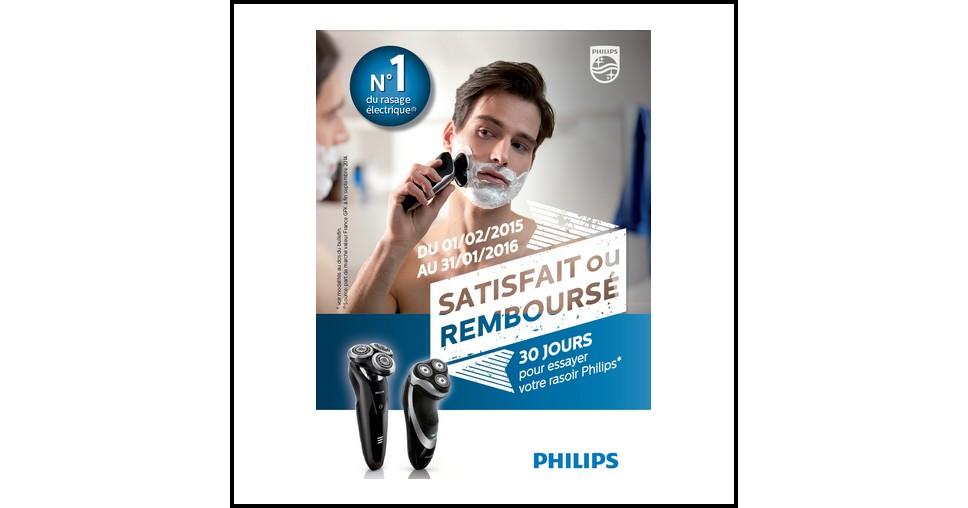 offre d essai odr philips rasoir electrique satisfait ou 100 rembours. Black Bedroom Furniture Sets. Home Design Ideas