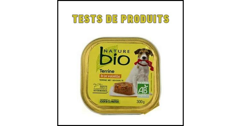 Tests de Produits : Terrine à la volaille pour chien de Nature Bio - anti-crise.fr