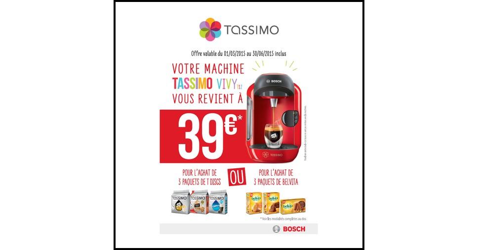 Offre de Remboursement (ODR) Bosch : Votre Tassimo Vivy T12 à 39 € - anti-crise.fr