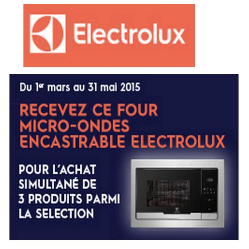 bon plan electrolux four micro ondes encastrable offert. Black Bedroom Furniture Sets. Home Design Ideas
