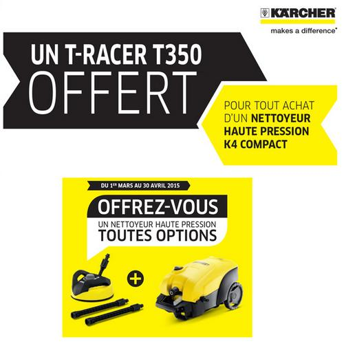 bon plan k rcher t racer t350 offert catalogues promos bons plans economisez anti. Black Bedroom Furniture Sets. Home Design Ideas