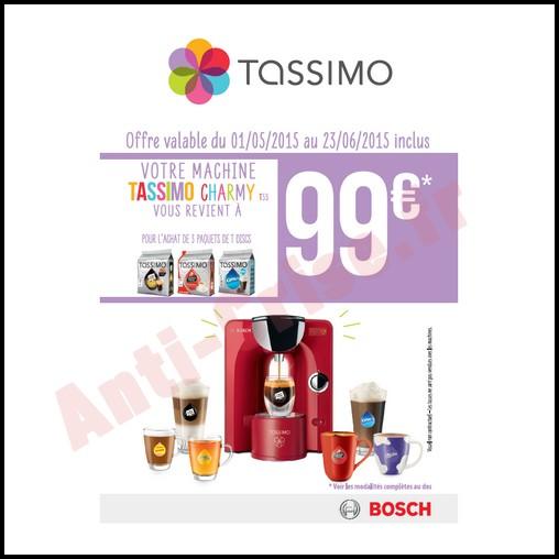 Offre de Remboursement (ODR) Bosch : Tassimo Charmy T55 à 99 € - anti-crise.fr