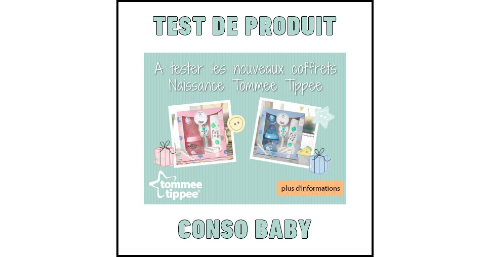 test de produit conso baby coffret de naissance tommee tippee. Black Bedroom Furniture Sets. Home Design Ideas