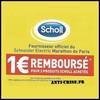 Offre de Remboursement (ODR) Scholl : 1 € pour 2 Produits - anti-crise.fr