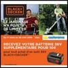 Bon Plan Black + Decker / Castorama : Batterie 36 V pour 10 € de Plus - anti-crise.fr