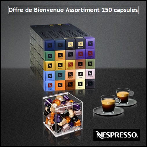 bon plan nespresso le cube et un set de tasses glass offerts catalogues promos bons plans. Black Bedroom Furniture Sets. Home Design Ideas
