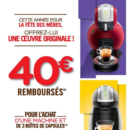 offre de remboursement odr krups 40 sur machine caf nescaf dolce gusto. Black Bedroom Furniture Sets. Home Design Ideas