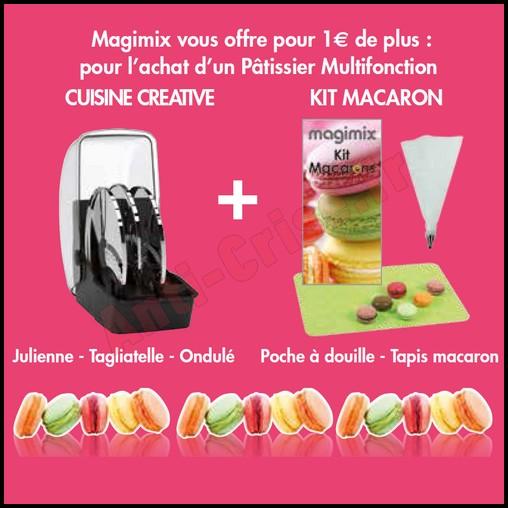 Bon plan magimix coffret cuisine cr ative et kit macaron offerts pour 1 de plus - Coffret cuisine creative ...