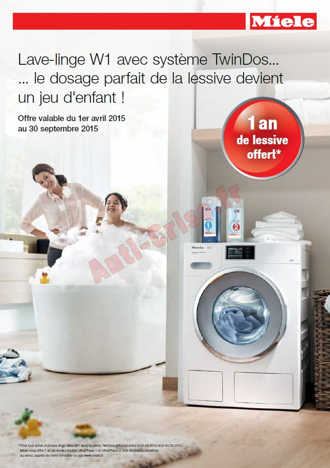 promo lave linge miele lave linge miele sur enperdresonlapin. Black Bedroom Furniture Sets. Home Design Ideas